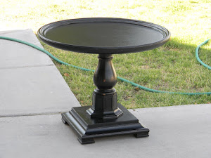 Black Pedastal End Table  *SOLD*