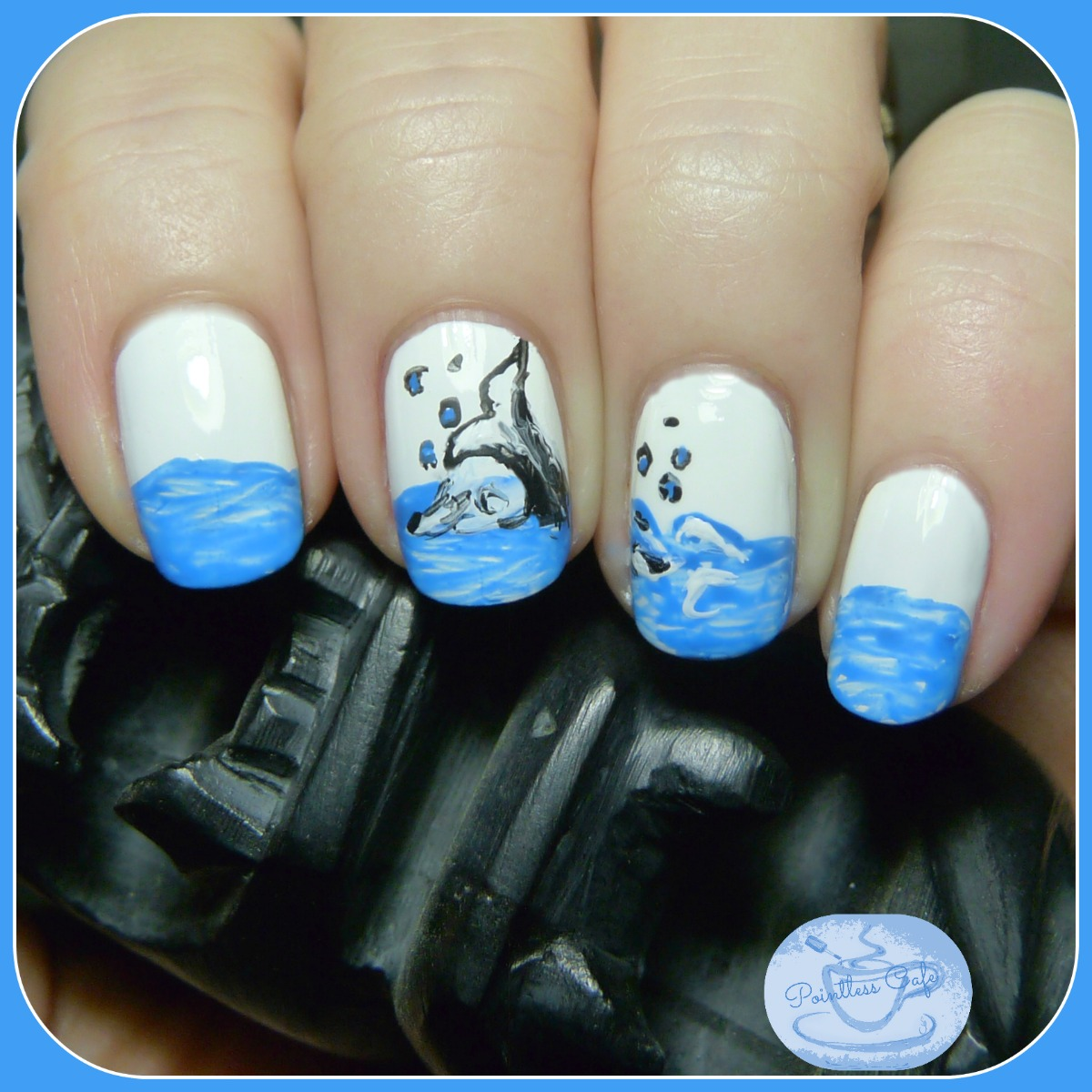The Digit-al Dozen Does Nature - Day 1 Whale Tail Nail Art ...