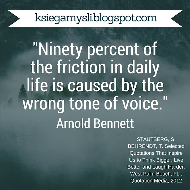 Ninety percent of the friction in daily life is caused by the wrong tone of voice.