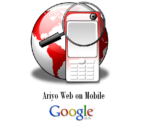 Ariyo Web on Mobile Phone