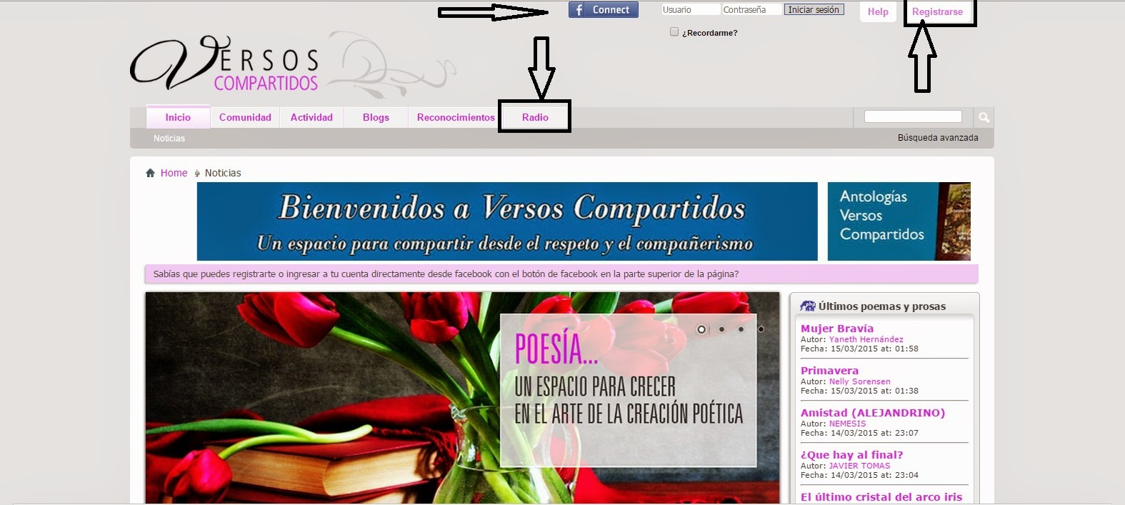 PORTAL LITERARIO VERSOS COMPARTIDOS
