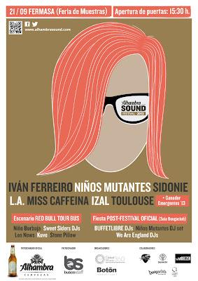 Alhambra Sound Festival 2013 CARTEL