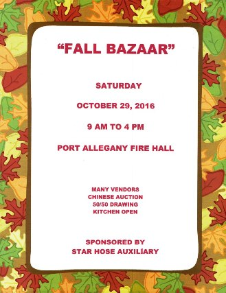 10-29 Fall Bazaar, Port A. Fire Hall