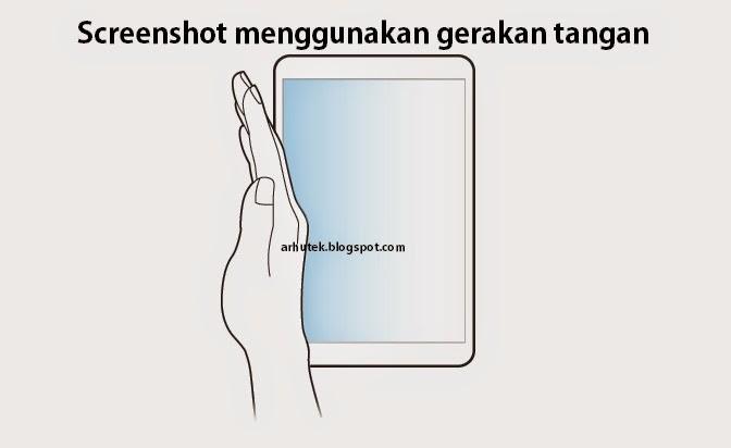 Screenshot Dengan Gesture
