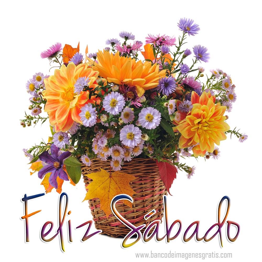 """BANCO DE IMAGENES GRATIS: Postal con mensaje de """"Feliz Sábado"""" y"""