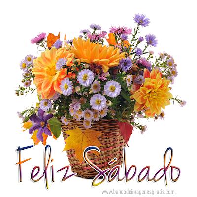 """Postal con mensaje de """"feliz sábado"""" para compartir"""