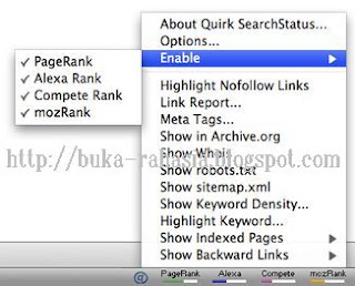 add-on Google pagerank-alexa toolbar