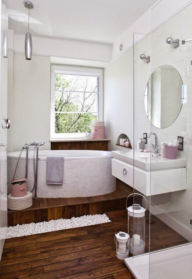 10 ideas de ba os peque os colores en casa - Puertas para banos pequenos ...