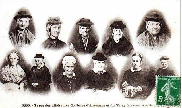 Coiffes et coiffures d'Auvergne, d'hier.