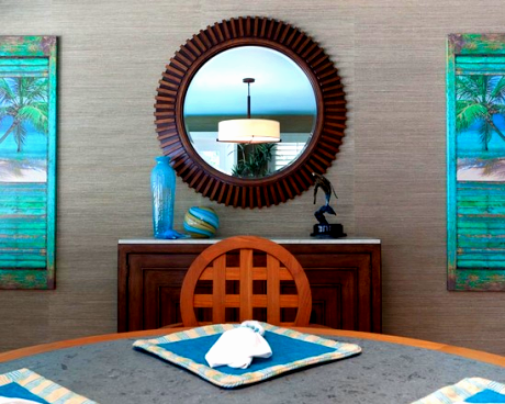 Coastal art shutters idea by karen grace shop the look - Decorative interior wall shutters ...