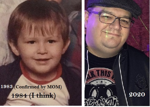 A few years...a few too many pounds...lol