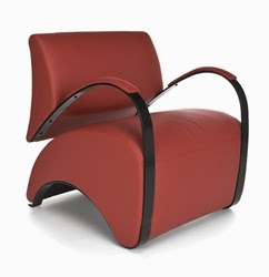 Recoil Lounge Chair in Red