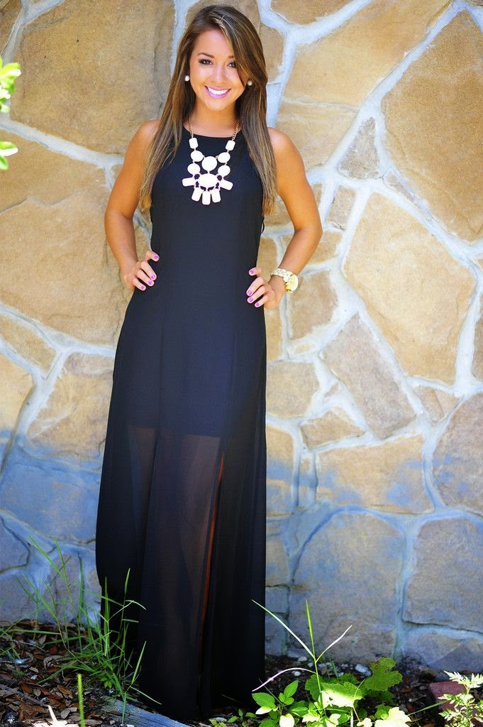 Heart Racing Maxi Dress Black