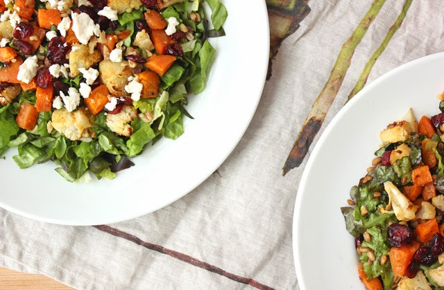Healthy Vegetarian Winter Salad with Roasted Vegetables #MyPicknSave #shop #cbias
