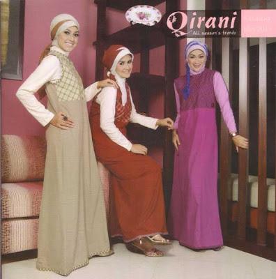 qirani baju muslim berbahan dasar kaos untuk para remaj