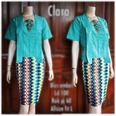 Kebaya Batik Modern Clara KBW 301