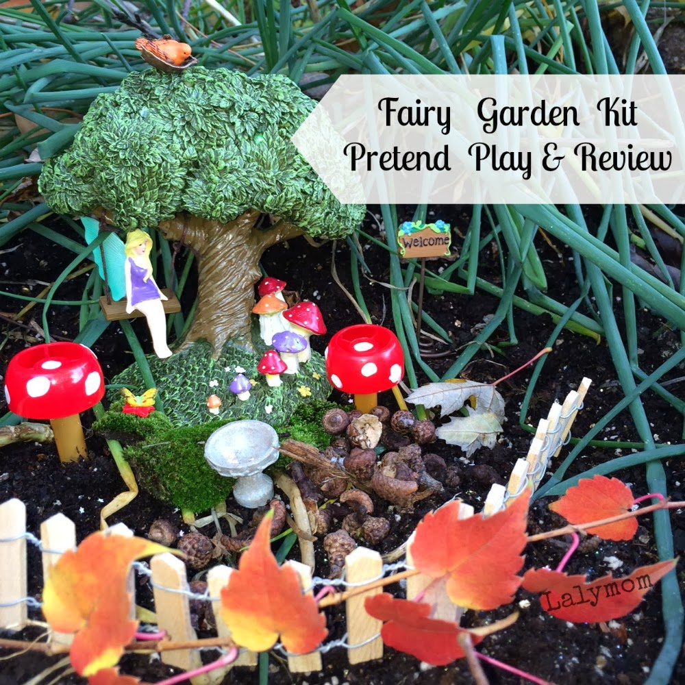 Fairy Garden Kit Pretend Play and Review LalyMom