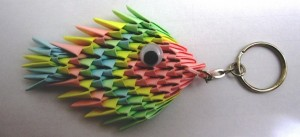 Check Out The 3d Origami Tropical Fish Key Chain