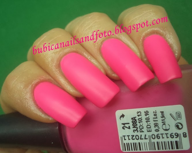 Another Nail Polish From Golden Rose Matte Collection Neon Pink No 21 Fast Dry Easy Applyperfect Brush Love It