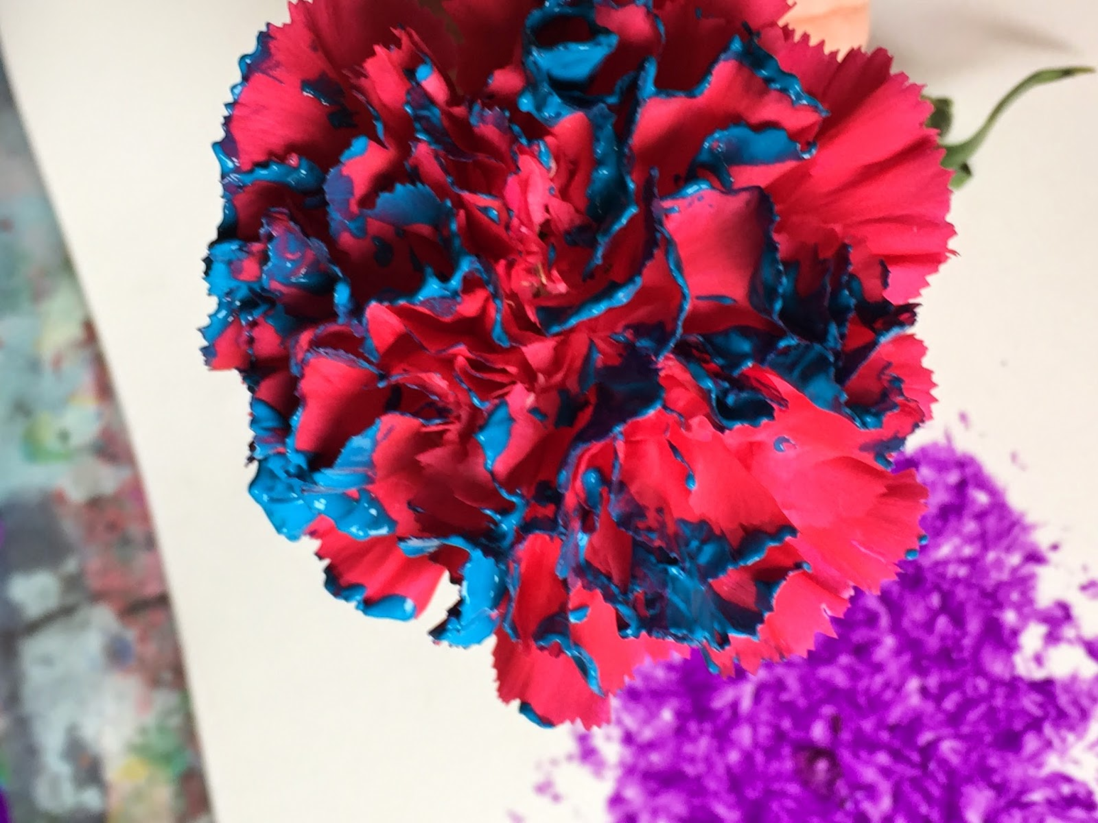 mini monets and mommies kids u0027 flower paint print art activity