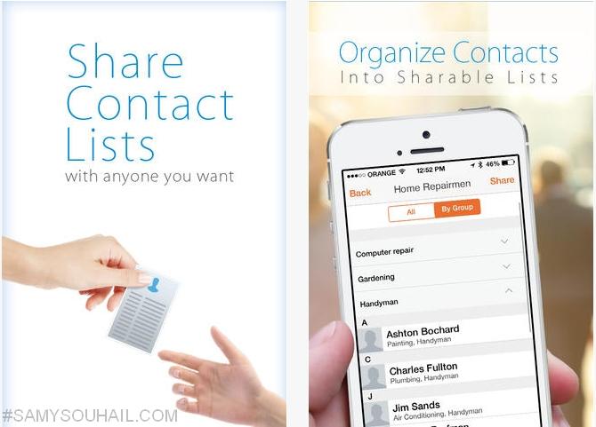 تطبيق ContactBox لإمكانية نقل أسماء و أرقام الهواتف بين آيفون و أندرويد