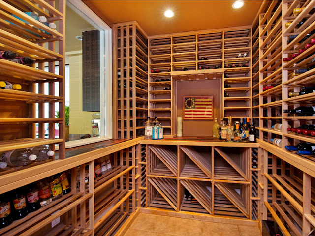 Photo of small wine room in the Bel Air modern residence