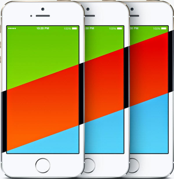 iPhone 5s PSD Templates