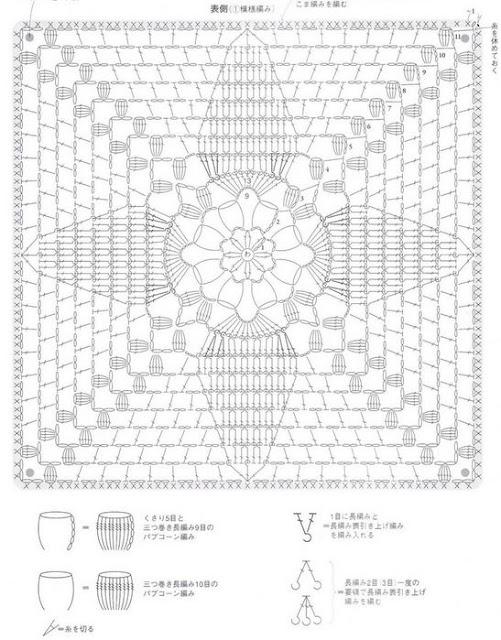 Чехол для табурета крючком схемы квадратные