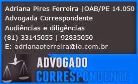 ADRIANA PIRES ADVOGADA - (81) 98446.0105