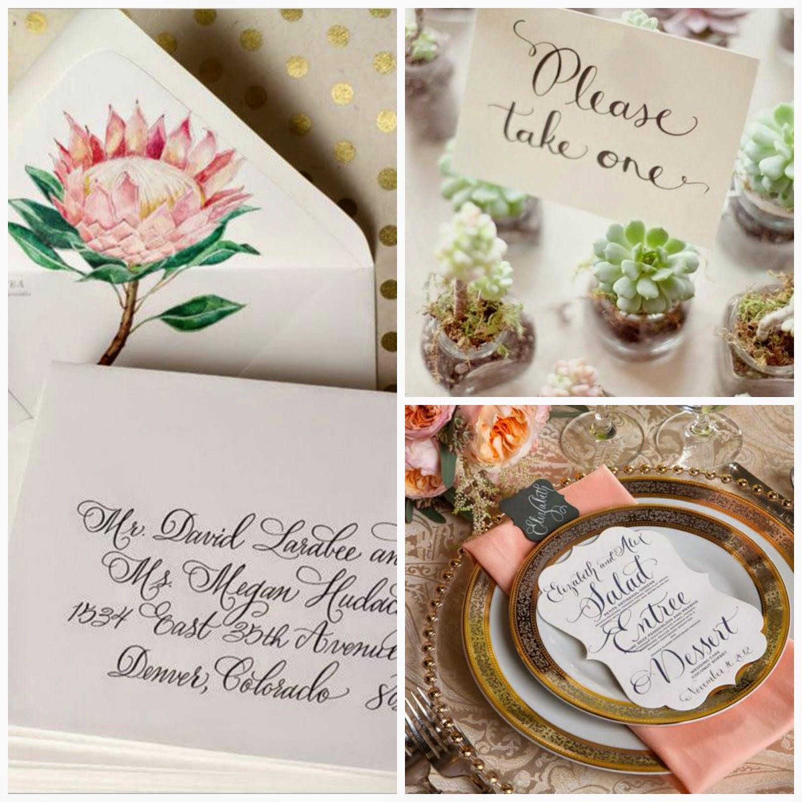 lettering caligrafia para bodas blog bodas mi boda gratis