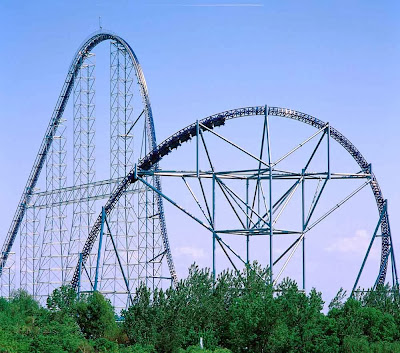 Montanha russa Millennium Force - Parque Cedar Point - Sandusky - Ohio