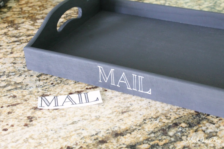 DIY Painted Mail Tray   Meet the B's
