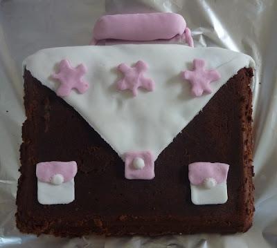 gâteau cartable rigolo