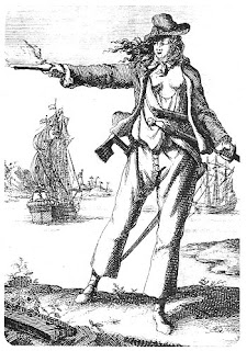 Historical Illustration of Anne Bonny (detailed description in caption below)