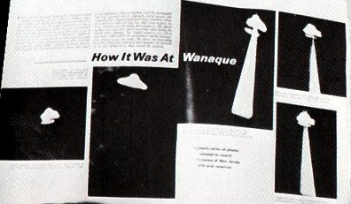 Wanaque UFO Photographs as Published in UFO Reports By Dell Circa 1967