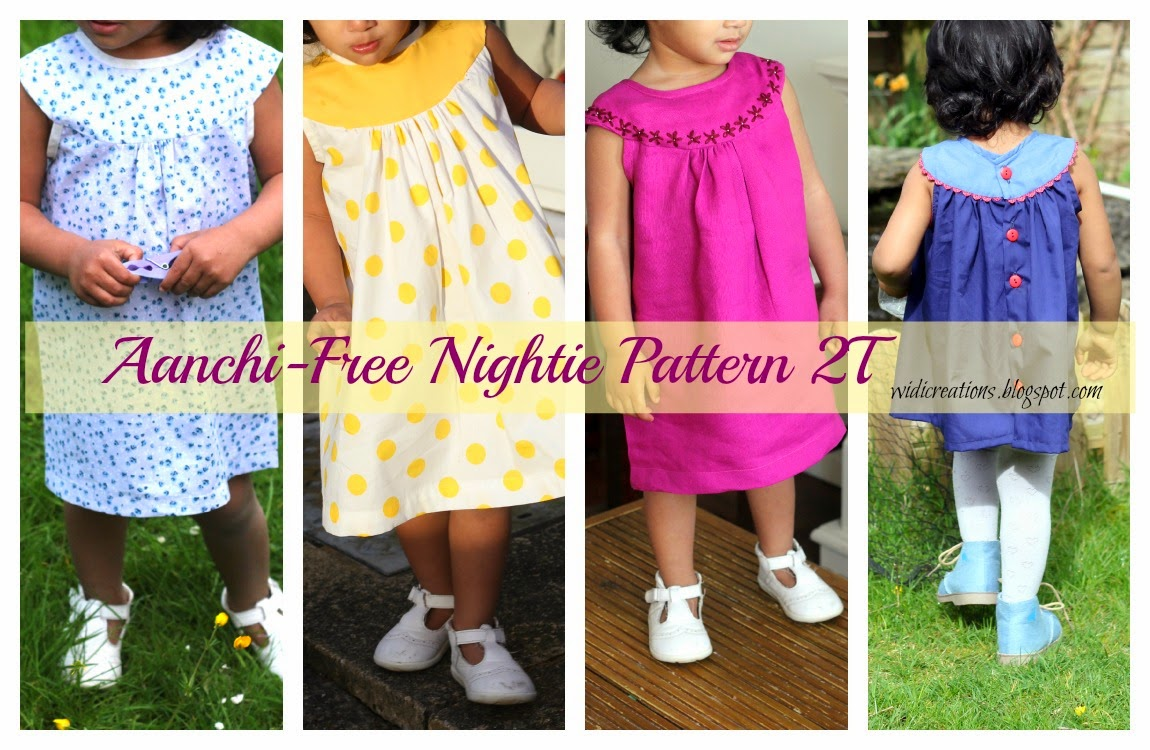 Sew nightie children tutorial download epattern free