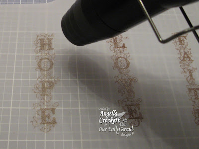 "Our Daily Bread designs ""Faith, Hope, Love"" Designer Angie Crockett"