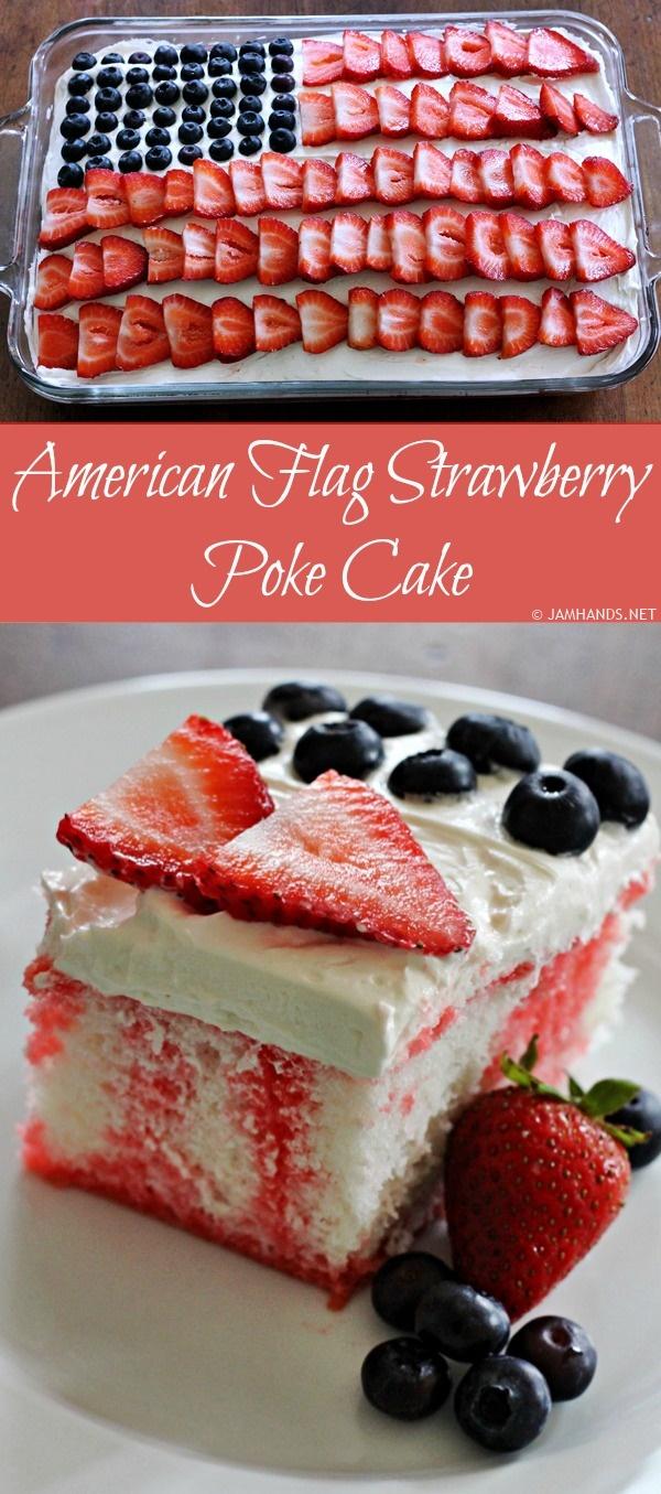 American Flag Pound Cake