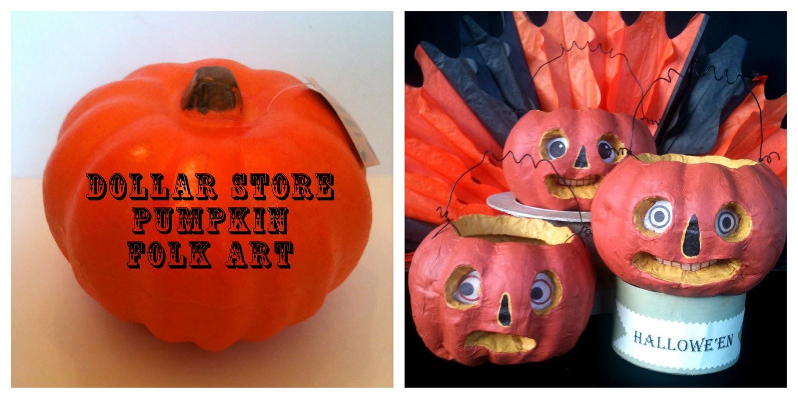 How to store pumpkins - How To Make Halloween Folk Art From Dollar Store Pumpkins