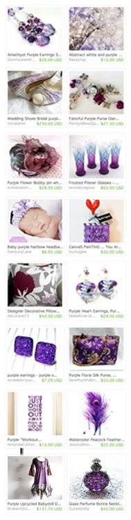 """Color Me Purple"" Treasury"