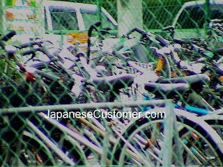 Bicycle parking Lot Japan copyright peter hanami 2015