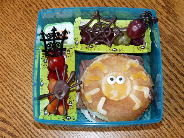 Halloween spider bento lunch