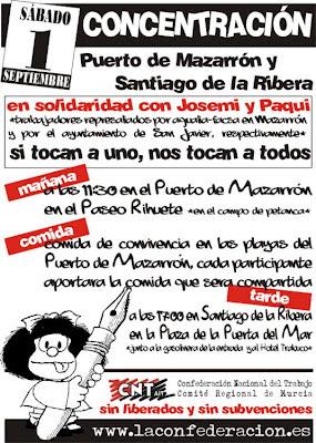 CNT Murcia Jornada de Lucha Aqualia Facsa Ayuntamiento Sanjavier Mazarrón