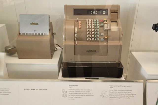 Cash Register Machine in the early days at National Museum of American History in Washington DC, USA