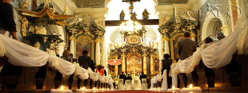 Dekoracje ślubne, weselne, dekoracja Kościoła, sklep internetowy