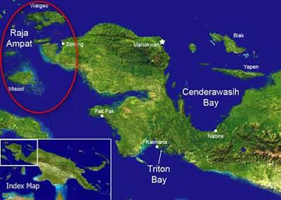 Location Raja Ampat