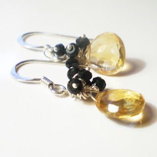 citrine earrings by catherine Marche