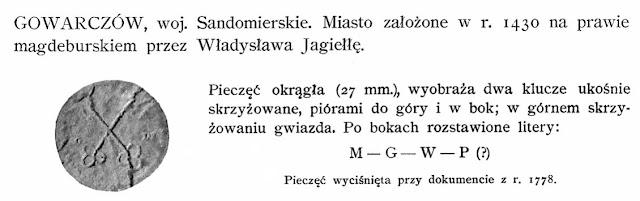 W. Wittyg, Pieczęcie miast dawnej Polski, Kraków 1905, s. 80