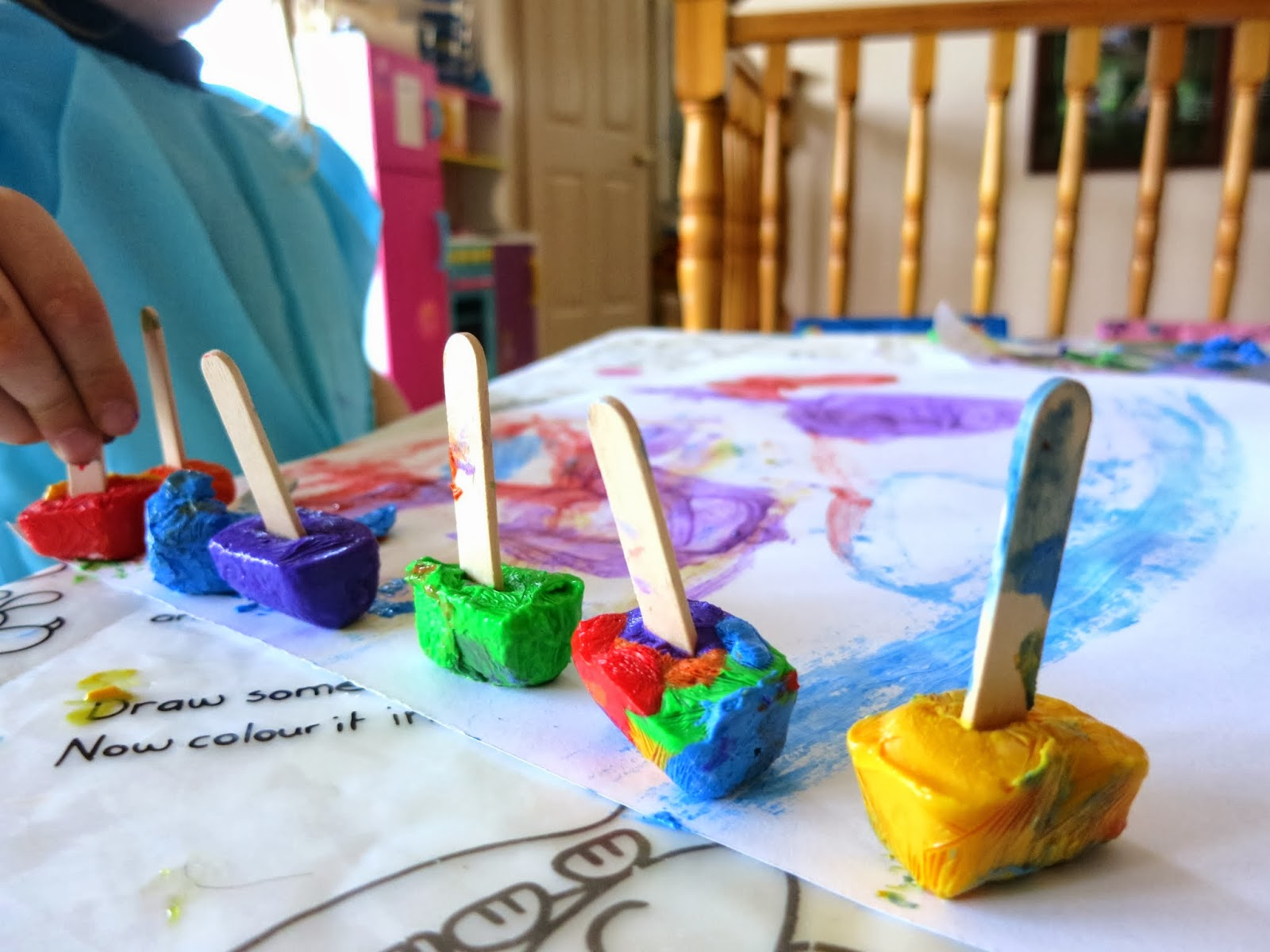 Learn with Play at Home Paintsicles Frozen paint cubes for