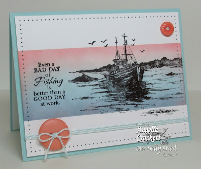 "ODBD ""The Waves on the Sea"", ""Fishing"", Card Designer Angie Crockett"